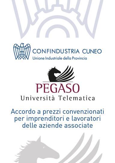 Confindustria Cuneo e Università Telematica Pegaso insieme per diffondere iniziative formative e valorizzare l'aggiornamento professionale dei lavoratori